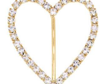 44x42 Beadelle Heart Buckles (2pcs)
