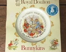Christening celebration plate, Royal Doulton 'Bunnykins' design in original box