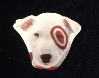 Novelty Gift/Dog Brooch/Upcycled Target Gift Card Brooch
