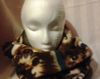 Fleece Infinity cowl scarf