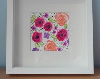 Original Framed Artwork - Floral