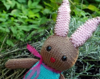 Hand-Knitted Bunny; 35 cm // 14 in.