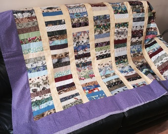 """Throw Quilt Top 72""""x95"""".         SALE 50% Off.   Code:   All go50"""