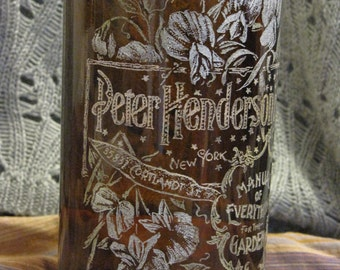 Hand-etched Bottle Vintage Seed Catalog Design