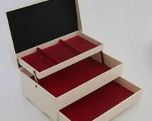Vintage Jewelry Box, Ivory Jewelry Box, Embossed Butterfly Jewellry Box, Girl's Jewelry Box, Butterflies Jewelry Box