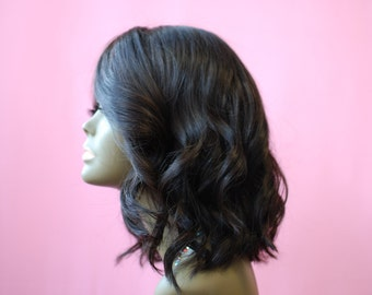 Wishe Ruby: 100% Brazilian Virgin Remy Human Hair Wig with Hand-Tied SilkBase Lace Closure
