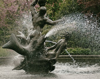 Garden Photography, Fountain Photo, London, Regent's Park, Europe, Spring, Summer, Fine Art Print, Home Decor, Wall Art