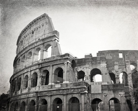 Colosseum Rome Photography Black And White By