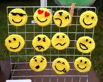 Emoticon Party Favors, Set of 6 Emoticon Pins, Hippie Party favors, Smiley Face, Texting Faces, Emoji Pins, Emoji Birthday Party Favors