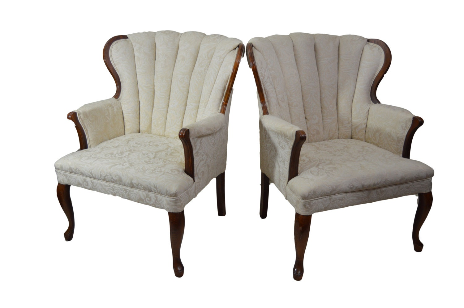 antique channel back chairs shabby chic cottage chic