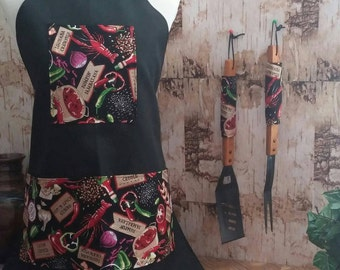 Made to Order Full Apron BBQ Set