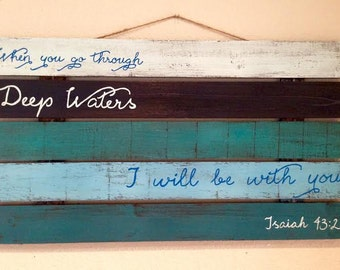 Hand Painted Bible Verse Pallet Sign