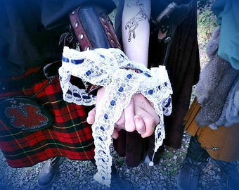 Lace and Ribbon Handfasting Cord