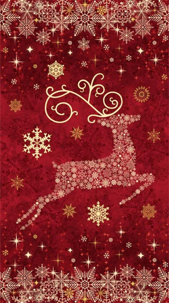Items Similar To Reindeer Prance By Northcott Fabric
