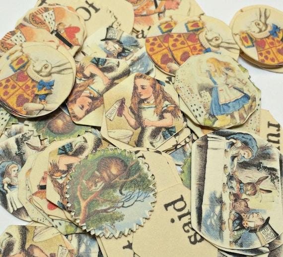 Confetti - Alice In Wonderland Party,Alice Confetti,Wedding Confetti,Garden Wedding,Baby Shower Confetti,Birthday Confetti,Die Cut Confetti