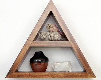 Triangle Pyramid Shelf