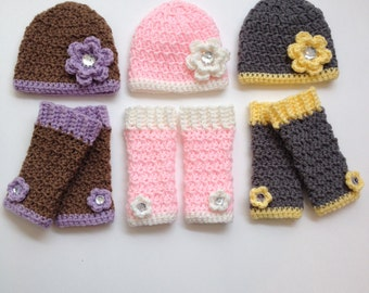 baby leg warmers, newborn girl outfit, girls leg warmers with hat, baby girl coming home outfit, newborn photo prop