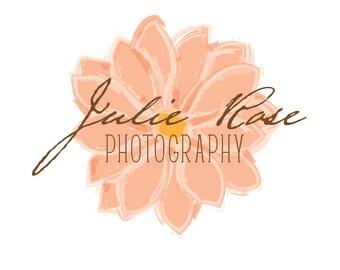 Custom Premade Logo Design- Floral Logo Design
