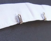 Silver hook only trim by the yard -White Cotton Tape ribbon-12""