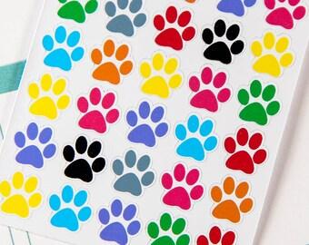 30 Paw Print Stickers