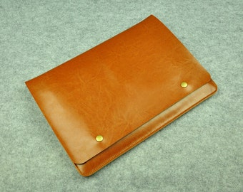 Genuine Leather 13inch Macbook Air Cover,New Macbook Pro 13/15,Leather Laptop Sleeve 13 , Leather Macbook Cover , Leather 13 Macbook Bag-046