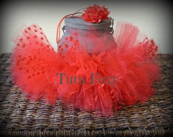 Newborn Tutu, Red Newborn Tutu,  Red Tutu Skirt with headband, Red Tutu, Newborn Tutu Set, Baby Tutu