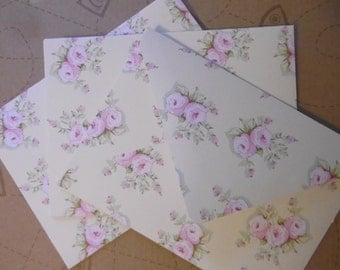 3 Handmade Envelopes with labels