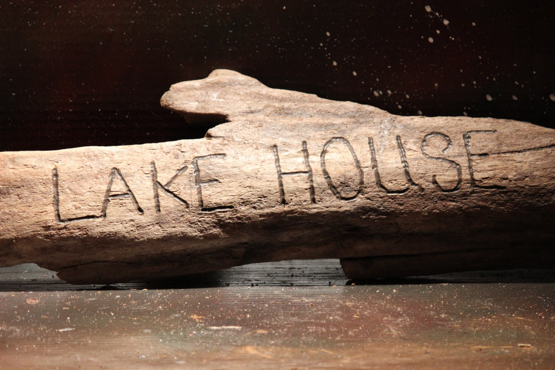 Driftwood Sign Lake House Rustic Lake Erie Beach