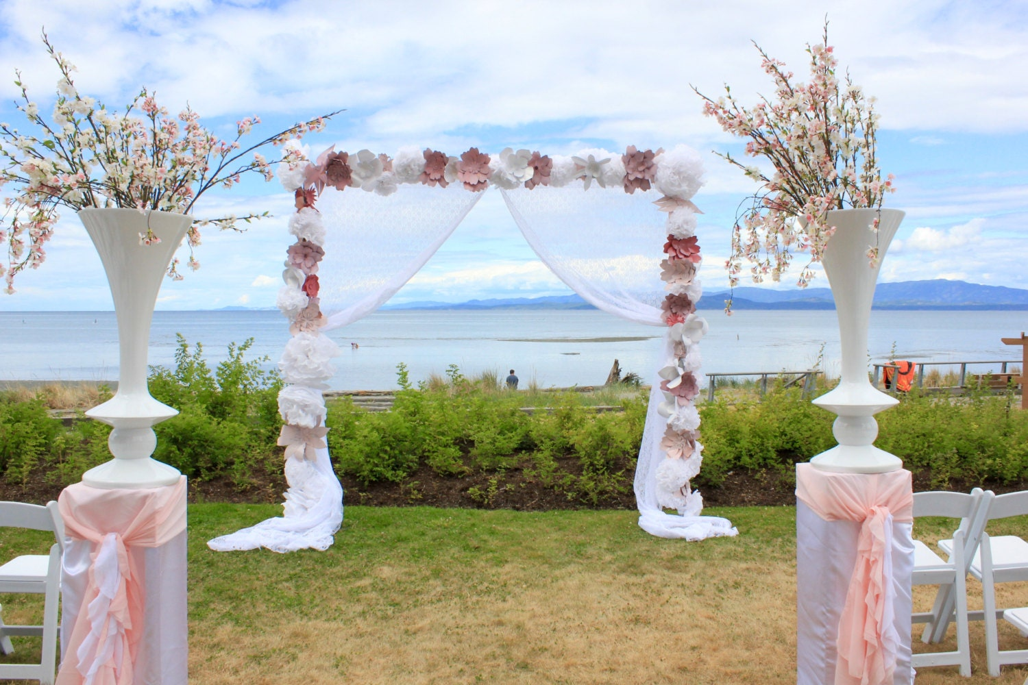 Decorating A Trellis For A Wedding Paper Flower Backdrop Wedding Arch Birthday Party Large