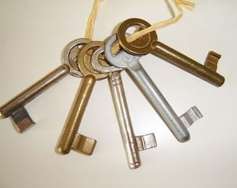 Set of Five Vintage Skeleton Keys