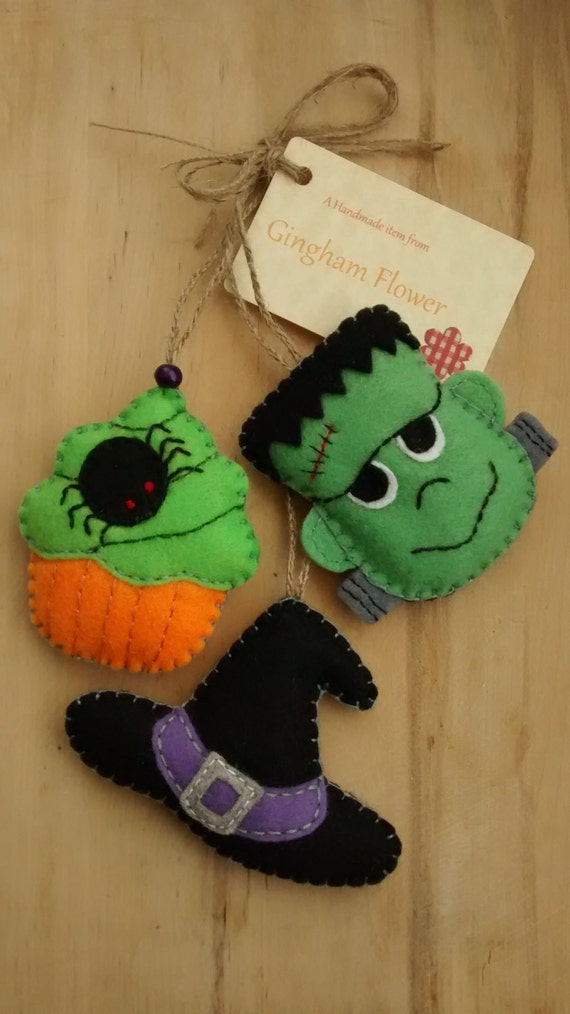 halloween crafts pinterest set of 3 felt hanging decoration tree ornament 2135