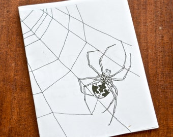 Spider Zine Field Guide - Includes One Inch Pin