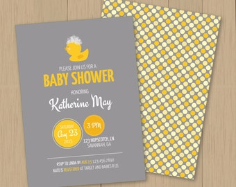 Baby Shower Invitation - Ducky