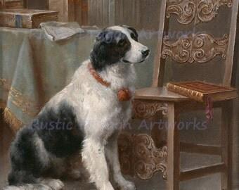 "Carl Reichert ""Dog Companion"" 1915  Reproduction Digital Print Dog Herding Dog Vintage Dog Portrait"