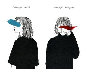 Strange Words // Stranger Thoughts (8x10 in.)