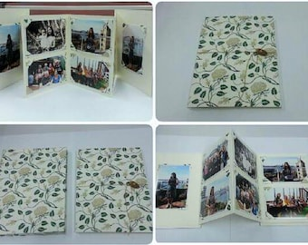 Custom photo slip case with replaceable photo corners | memory gifts | Keepsake fold out album