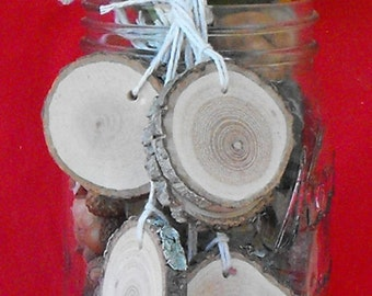 "25 -  2"" Rustic Wood slices ~ Wood Charms ~ Wedding Charms ~ Art supply wood slices ~ Tree branch art ~  Wood slice burning ~ Wood slice art"