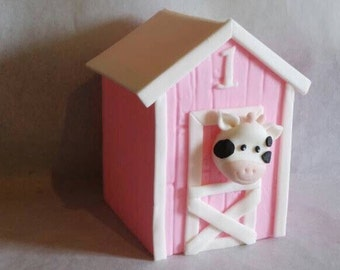 Barn with Cow Topper