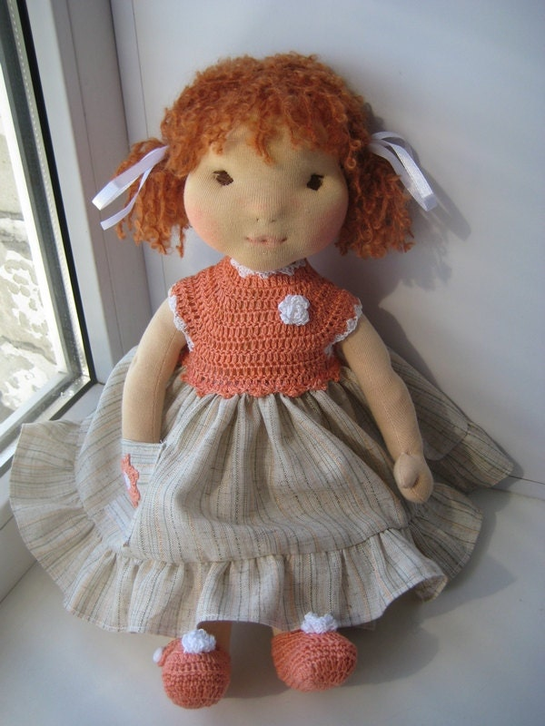 Waldorf doll 17 waldorf fabric doll steiner doll - Material waldorf ...