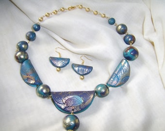 Indian Summer Polymer clay Necklace And Earrings Set