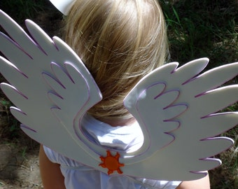 Child sized Princess Celestia wings. Alicorn princess No Horn