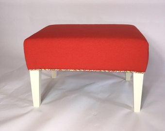 Handmade upholstered ottoman