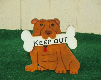 Pit Bull Keep Out Yard Sign
