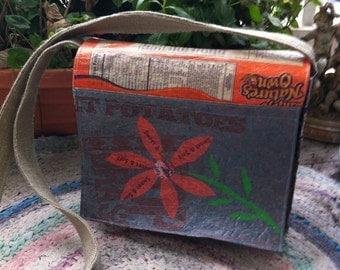 Orange Flower Messenger Bag