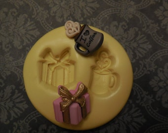 Resin Coffee Mold, Silicone Mold, Molds, Baking Molds, Jewelry Molds, Cake Molds, Cake Pops, Charms, Jewelry, Gifts, Putty, Cupcake Molds