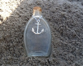Vintage bottle with anchor