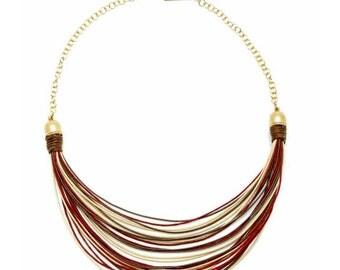 Burgundy statement necklace