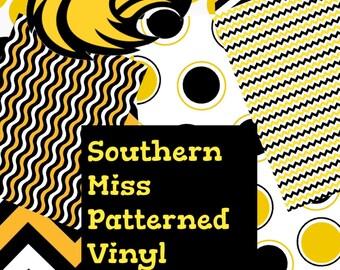 Southern Miss Patterned Vinyl Add On