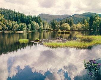 Scottish landscape, Mystery Highlands, Scenic Glencoe Lochan, Scotland, Wall Art, Wall Decor, FINE ART Photography PRINT 9x6 inches