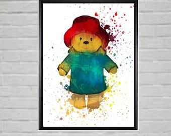 Teddy Bear - Teddy Bear Prints - Teddy Bear Nursery Decor - Teddy bear Art -Teddy Bear Wall Art